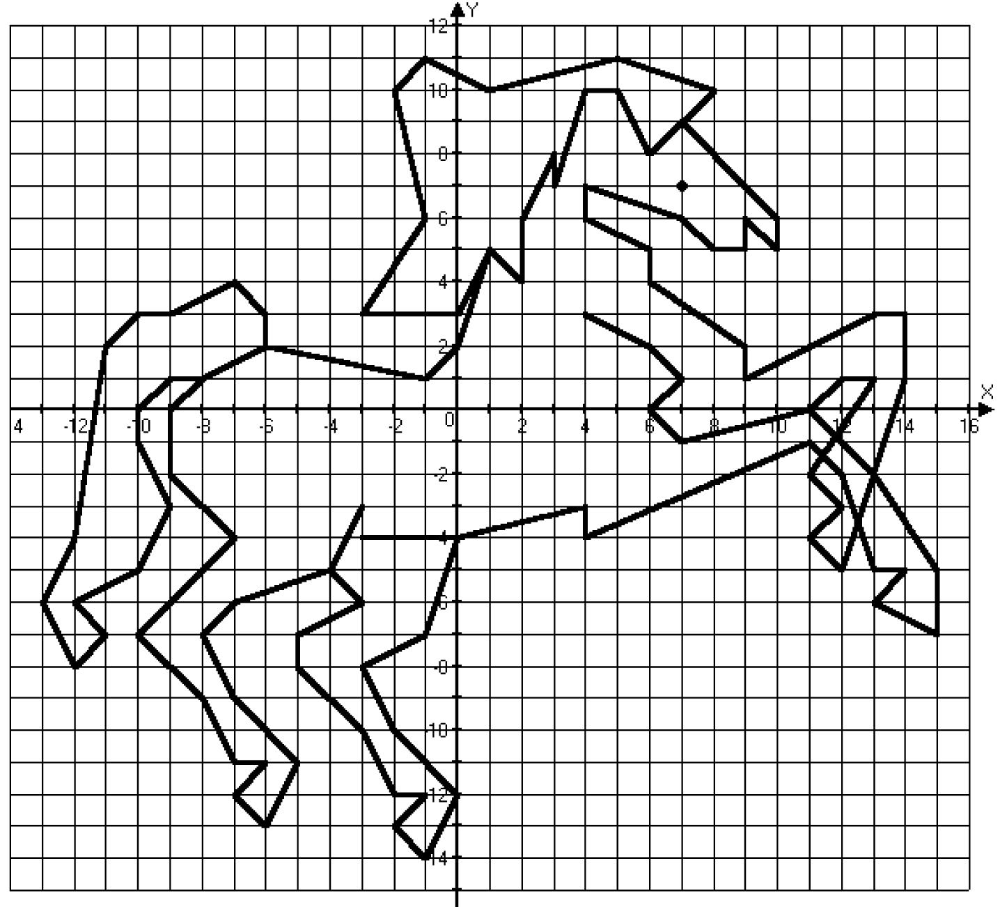 рисунки координатные по точкам
